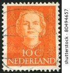 netherlands   circa 1949  stamp ... | Shutterstock . vector #80494657