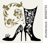 shoes collection black...   Shutterstock .eps vector #80500753