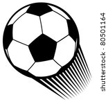 vector football ball  soccer  | Shutterstock .eps vector #80501164