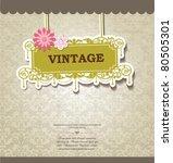 vintage card design for... | Shutterstock .eps vector #80505301