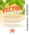 vector background for design on ... | Shutterstock .eps vector #80509204
