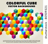 Abstract Colorful Vector Cube ...