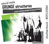 natural media grunge structures ... | Shutterstock .eps vector #80513584
