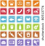 grocery icons | Shutterstock .eps vector #80513776