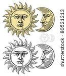 Vector Illustration Of Moon An...