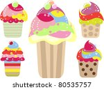 collection of colorful  yummy... | Shutterstock .eps vector #80535757
