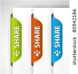 set of share labels   stickers... | Shutterstock .eps vector #80542186