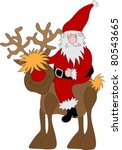 santa claus reindeer | Shutterstock .eps vector #80543665