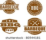 BBQ Stamps - stock vector