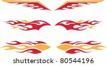 racing flames | Shutterstock .eps vector #80544196