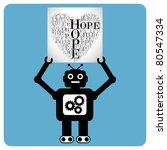 modern robot with a hearts made ... | Shutterstock .eps vector #80547334