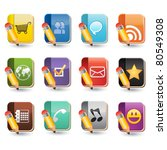 social media of book icon set | Shutterstock .eps vector #80549308