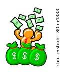 orange man earning money | Shutterstock .eps vector #80554333