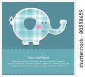 nice baby card. vector... | Shutterstock .eps vector #80558659