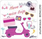 sweet trip elements | Shutterstock .eps vector #80561350