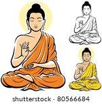 stylized illustration of buddha ... | Shutterstock .eps vector #80566684