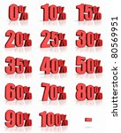 complete set of red percent... | Shutterstock . vector #80569951