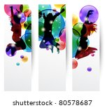 set of three banner with happy...   Shutterstock .eps vector #80578687