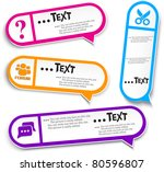 colorful bubble for speech | Shutterstock .eps vector #80596807