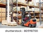 warehouse worker driver in... | Shutterstock . vector #80598700