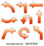 vector orange shiny arrows for... | Shutterstock .eps vector #8059909