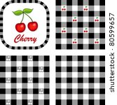 Cherries And Gingham Check...
