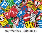 chaotic collection of traffic... | Shutterstock . vector #80600911