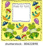 the frame nursery with frog.... | Shutterstock .eps vector #80622898