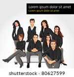 template of a group people... | Shutterstock .eps vector #80627599