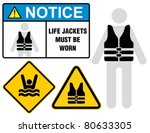 Life Jacket  Notice Sign.