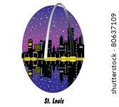 st. louis missouri including... | Shutterstock .eps vector #80637109