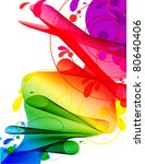 spectrum ribbon river abstract... | Shutterstock . vector #80640406