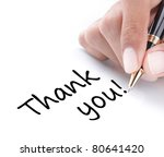 Hand Writing Thank You ...