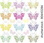 set colorful butterflies | Shutterstock .eps vector #80643286