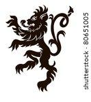 heraldic lion in isolation for...