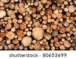 Raw De Barked Pine Wood Logs I...