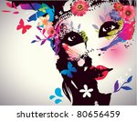 Girl With Mask Vector...