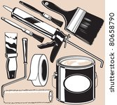 painting supplies | Shutterstock .eps vector #80658790