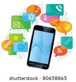 telephone media.social media... | Shutterstock .eps vector #80658865