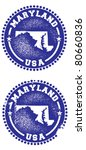 Maryland USA Stamps - stock vector