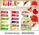 different paper tags   vector...