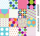 seamless patterns  polka dot set | Shutterstock .eps vector #80683909