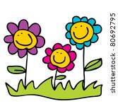 cartoon flowers | Shutterstock .eps vector #80692795