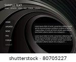 web template vector ... | Shutterstock .eps vector #80705227