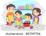 illustration of a family... | Shutterstock .eps vector #80709706