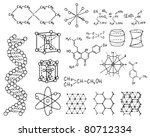 physics and chemistry vector set - stock vector
