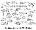 transportation over the world vector set - stock vector