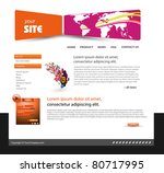 abstract web site design... | Shutterstock .eps vector #80717995