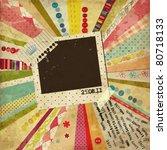 scrap template of vintage worn... | Shutterstock .eps vector #80718133