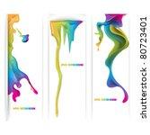 eps10 vector set of ink... | Shutterstock .eps vector #80723401